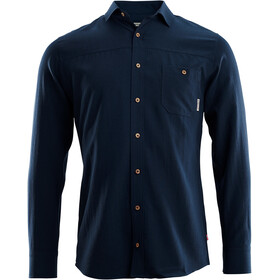 Aclima Woven Wool Shirt Men, navy blazer